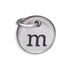 Silver Tone Initial M