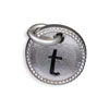 Silver Tone Initial T