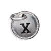 Silver Tone Initial X