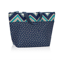 Thermal Tote in Dotty Chevron - 3000