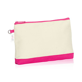 Mini Zipper Pouch (URU) in U R U Natural (w/ Pink) - 3013
