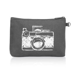 Mini Zipper Pouch in Camera - 3013