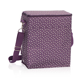 Picnic Thermal Tote in Plum Dancing Dot - 3034