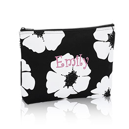 Zipper Pouch in White Poppy - 3045