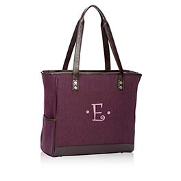 Cindy Tote in Plum Brushed Twill - 3057