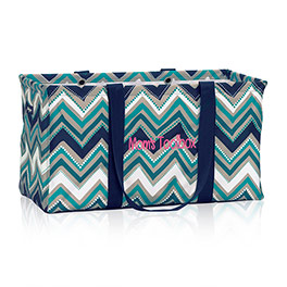 Large Utility Tote in Dotty Chevron - 3121