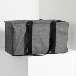 Large Utility Tote in Charcoal Crosshatch - 3121