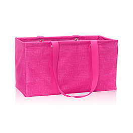 Large Utility Tote in Pink Crosshatch - 3121