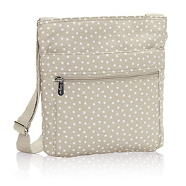 Organizing Shoulder Bag in Taupe Dancing Dot - 3165
