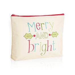 Zipper Pouch in Merry & Bright - 3802