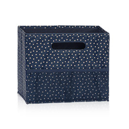 Fold N File in Navy Dancing Dot - 3890