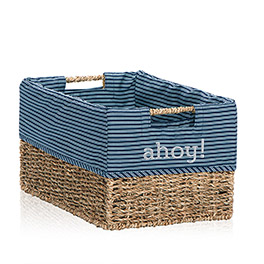 Your Way Rectangle Basket Liner in Sailor Stripe - 4153