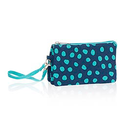 Vary You Wristlet in Navy Lotsa Dots - 4241