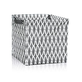 Square Storage Bin in Charcoal Links - 4437