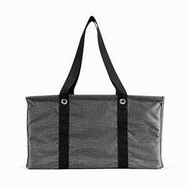 Deluxe Utility Tote in Charcoal Crosshatch - 4441