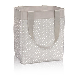 Essential Storage Tote in Taupe Dancing Dot - 4446