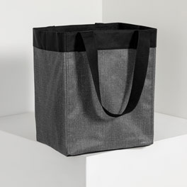 Essential Storage Tote in Charcoal Crosshatch - 4446