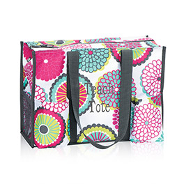 Zip-Top Organizing Utility Tote in Bubble Bloom - 4451