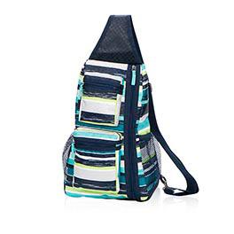 Sling-Back Bag in Sea Stripe - 4538
