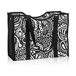 All-Day Organizing Tote in Black Playful Parade - 4777