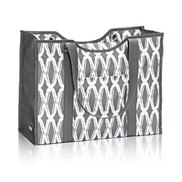 All-Day Organizing Tote in Charcoal Links - 4777