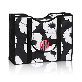 All-Day Organizing Tote in White Poppy - 4777