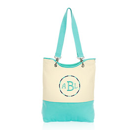 Canvas Crew Carry-All in Natural (w/Turquoise) - 4778