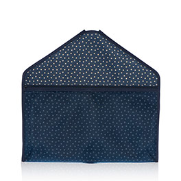 Hang-It-Up Pocket in Navy Dancing Dot - 4784