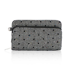 Perfect Cents Wallet in Black Tweed Dot - 4808