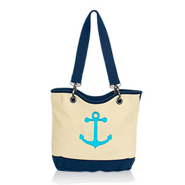 Canvas Crew Mini in Natural (w/Navy) - 4876