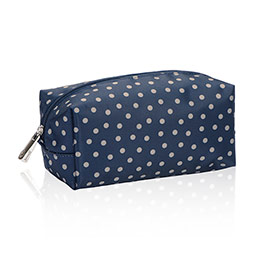 Uptown Mini Pouch in Navy Dancing Dot - 4954