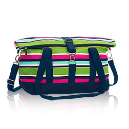 Fold-Over Weekender in Preppy Pop - 4990