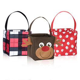 Littles Bundle in Check Mate, Swirl Dot and Reindeer - 5117