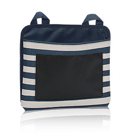 Oh-Snap Pocket w/ Chalk in Navy Rugby Stripe w/ Chalk - 6192