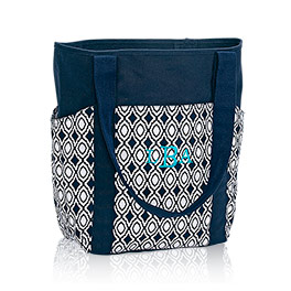 Go-To Tote in Navy Perfect Pendant - 6208
