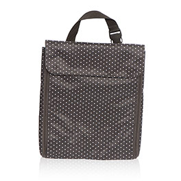 Jewelry Keeper in City Charcoal Swiss Dot - 8137