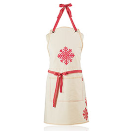 Gather Together Apron in Snowflake - 8166