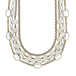 Morning Glow Necklace in Two-Tone - 8192