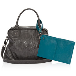 Couture Street Bundle in City Charcoal Snake / Teal Affair Pebble - 8211