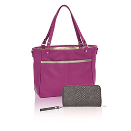 Townsfair Reversible Tote Bundle in Palace of Jewells Pebble w/Rubbed Metallic - 8295