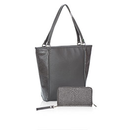 Daring Abbey Bundle in City Charcoal Snake - 8296