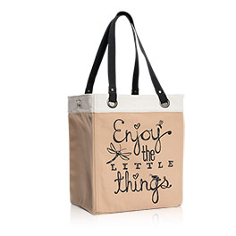 Canvas Storage Tote in Enjoy The Little Things - 8298
