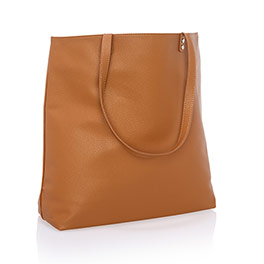 Around Town Tote in Caramel Charm Pebble - 8309