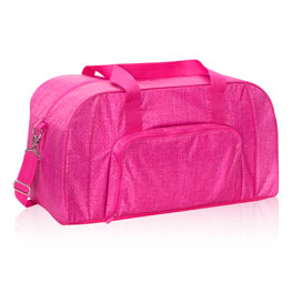 All Packed Duffle in Pink Crosshatch - 8319