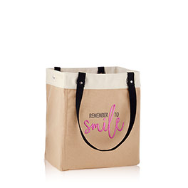 Canvas Storage Tote in Latte - 8578